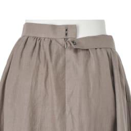 リネン素材 ギャザースカート