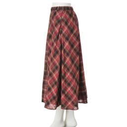 ソメロス社 チェック柄 ロングスカート