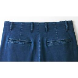 【股下丈66cm】トルコ産 ストレッチデニム ワイドパンツ back style (ア)インディゴ
