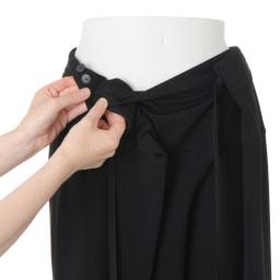 アジャスト機能付き リラックスジャージーパンツ ボタンでサイズ調節が可能