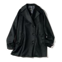 PIACENZA/ピアツェンツァ カシミヤ デザインPコート (ア)ブラック