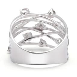 K18W G0.5ctダイヤリング