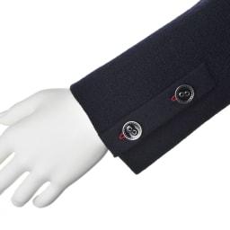 梳毛ウール ミラノリブニットジャケット 袖口開き見せボタン付き