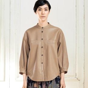 イタリアンラムレザー デザインジャケット 写真