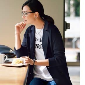 ロゴ刺繍Tシャツ 写真