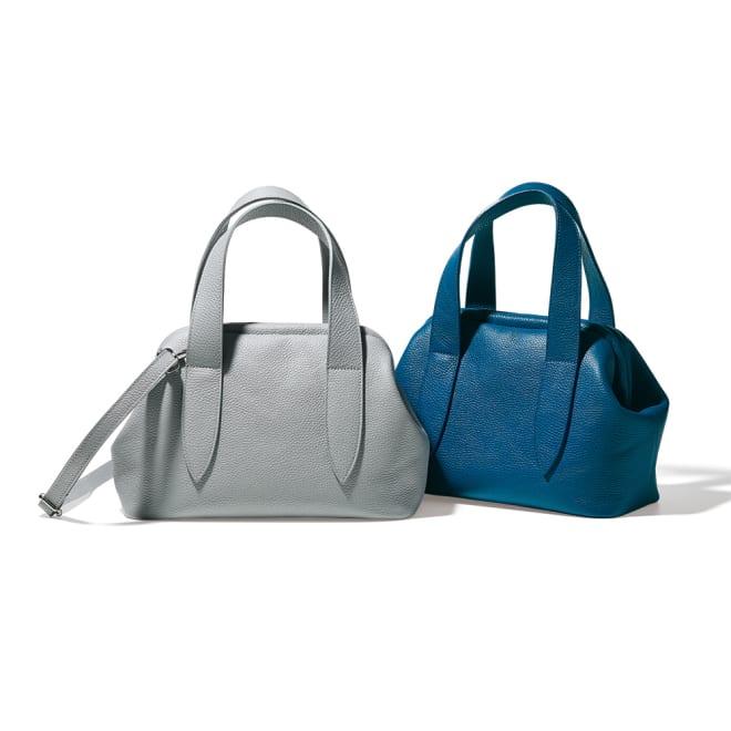 LAURA DI MAGGIO(R)/ラウラ ディ マッジオ 2WAYレザーバッグ(イタリア製) 左から(ア)グレー (イ)ブルーグリーン