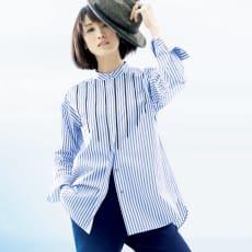 ソメロス社 ビーズ刺繍 ストライプ オーバーシャツ