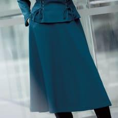 圧縮ウール スムースジャージー フレアースカート