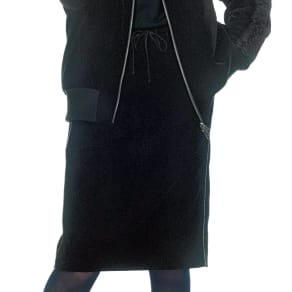 ラメコード使い ベルベット タイトスカート 写真