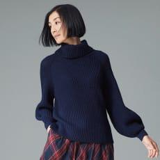 イタリア糸 畦編み バルーンスリーブ プルオーバー