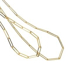 UNOAERRE/ウノアエレ コラボ K18 ペーパークリップ ネックレス(イタリア製)