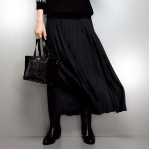 アコーディオンプリーツ風 ニットスカート 写真
