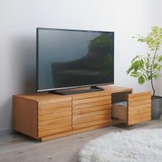 アルダー格子テレビ台 幅120cm