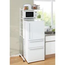 キッチン収納・幅と高さが伸縮するキッチンラック 2段