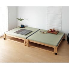 畳空間を簡単に演出できる折りたたみベッド(棚なし)