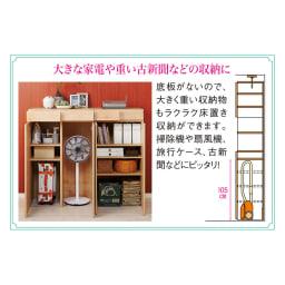 天然木調 掃除機もしまえる本棚 幅60本体高さ120cm