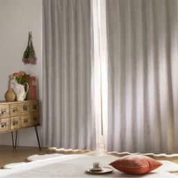 アルミコーティング遮熱・1級遮光ヒートブロック100サイズカーテン 200cm幅(1枚) (ケ)グレー