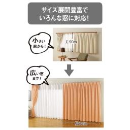 遮熱・防炎スーパーミラーレースカーテン 幅100cm(2枚組) 100サイズ対応なので、小窓から掃出し窓までOK!