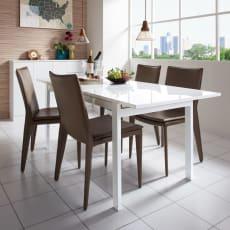 簡単伸長!スマート伸長式テーブル 幅140・180cm 写真