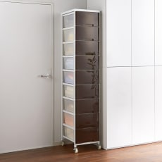 家族の衣類を一括収納 大量収納タワーチェスト 1列・9段タイプ