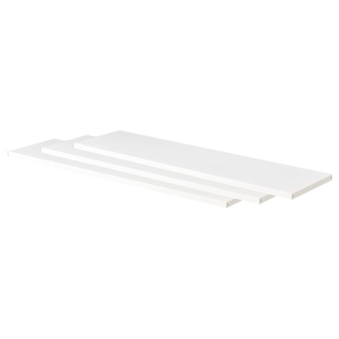 小物やバッグがすっきり片付く突っ張りシューズラック用【追加棚3枚組 幅98cm】 (ア)ホワイト 幅98cmの追加棚3枚組です。