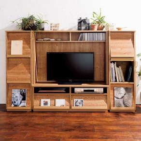 天然木調 ディスプレイラックシリーズ テレビ台 写真