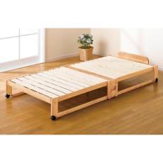折りたたみ式ひのきすのこベッド シングル