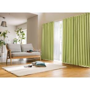 幅100×丈190cm(アルミコーティングヒートブロック100サイズカーテン 2枚組) 写真