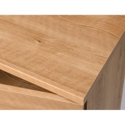 天然木調テレビ台ハイバックシリーズ テレビ台・幅100.5奥行45cm 天板にも木目シートを施しています。