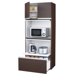 組立不要!家電を隠せるキッチン収納シリーズ レンジラック幅78cm