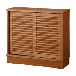 アルダー格子引き戸収納庫 幅90cm奥行25cm 【奥行35cmタイプ】収納物や設置場所に合わせて選べる2サイズをご用意しております。