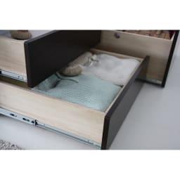 布団が使える洋服たんすベッド ヘッドなし(高さ41cm) シーズンオフの衣類もたっぷり収納。