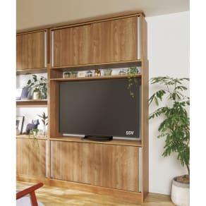 薄型壁面収納テレビ台 幅140cm 写真