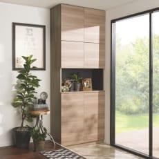 インテリアに合わせて8色&13タイプから選べるシューズボックス オープン 幅90高さ180.5cm