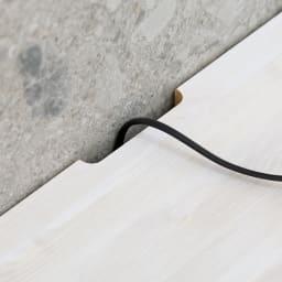 猫トイレを目隠しできる! ネコのくつろぎスペース付きテレビ台 幅150cm 壁にぴったり寄せて置いてもコードを通せます。