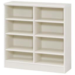 色とサイズが選べるオープン本棚 幅86.5cm高さ88.5cm (イ)ホワイト