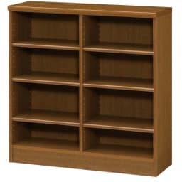 色とサイズが選べるオープン本棚 幅86.5cm高さ88.5cm (ウ)ブラウン