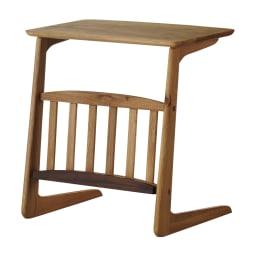カフェ風天然木ソファサイドテーブル 幅55cm (イ)ナチュラル