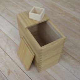 イシモク「桐子モダン」 桐の米びつ 10kg 一升マス付き。