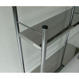 ステンレス棚コンロサイド収納ラック スパイスラックタイプ 幅40cm キッチン収納に嬉しい、ステンレス棚板。