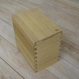 イシモク「桐子モダン」 桐の米びつ 5kg シンプルな形が桐の素材感を引き立てます
