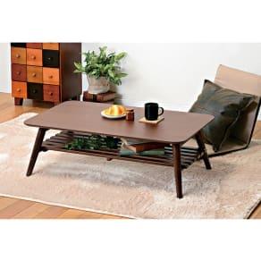 天然木折りたたみテーブル(スクエア) 写真