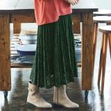 【L-LL】 プリーツ風レーススカート 写真