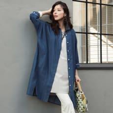 ライトデニム ドルマンスリーブチュニックシャツ 【大きいサイズ L・LL・3L・4L・5L】