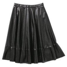 ANONYME/アノニム 星型パンチング フェイクレザースカート