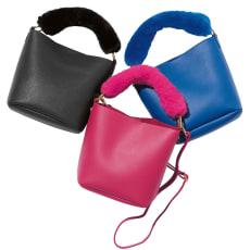 DRES/ドレス ファーハンドルバッグ