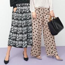イタリア素材 モノトーンプリントスカート