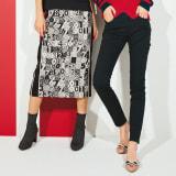 イタリア素材 ナンバージャカードスカート 写真