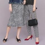 イタリア素材 ギンガムマーメイドスカート 写真