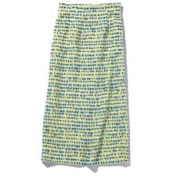 イタリア素材 ボーダーツイード スカート